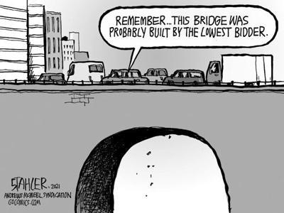 Editorial Cartoon: Infrastructure