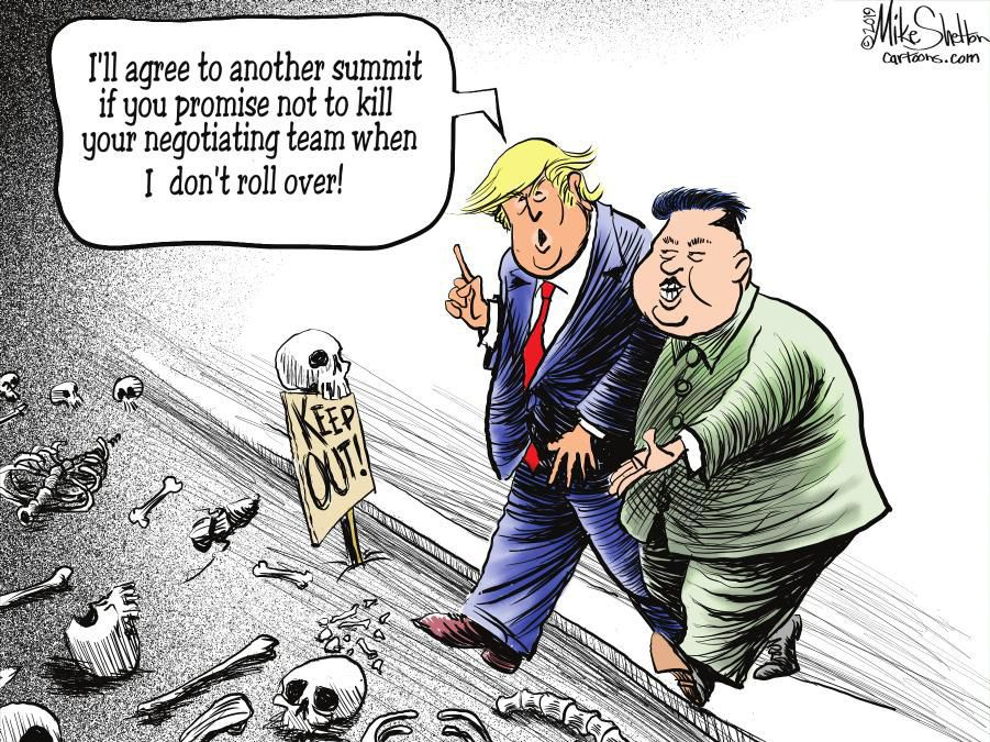 Cartoon: Trump, Kim negotiate
