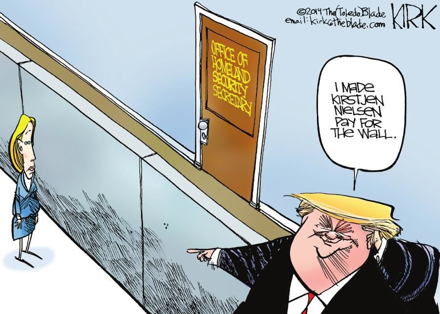 Cartoon: Nielsen and the wall