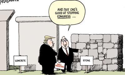 Cartoon: Trump's walls