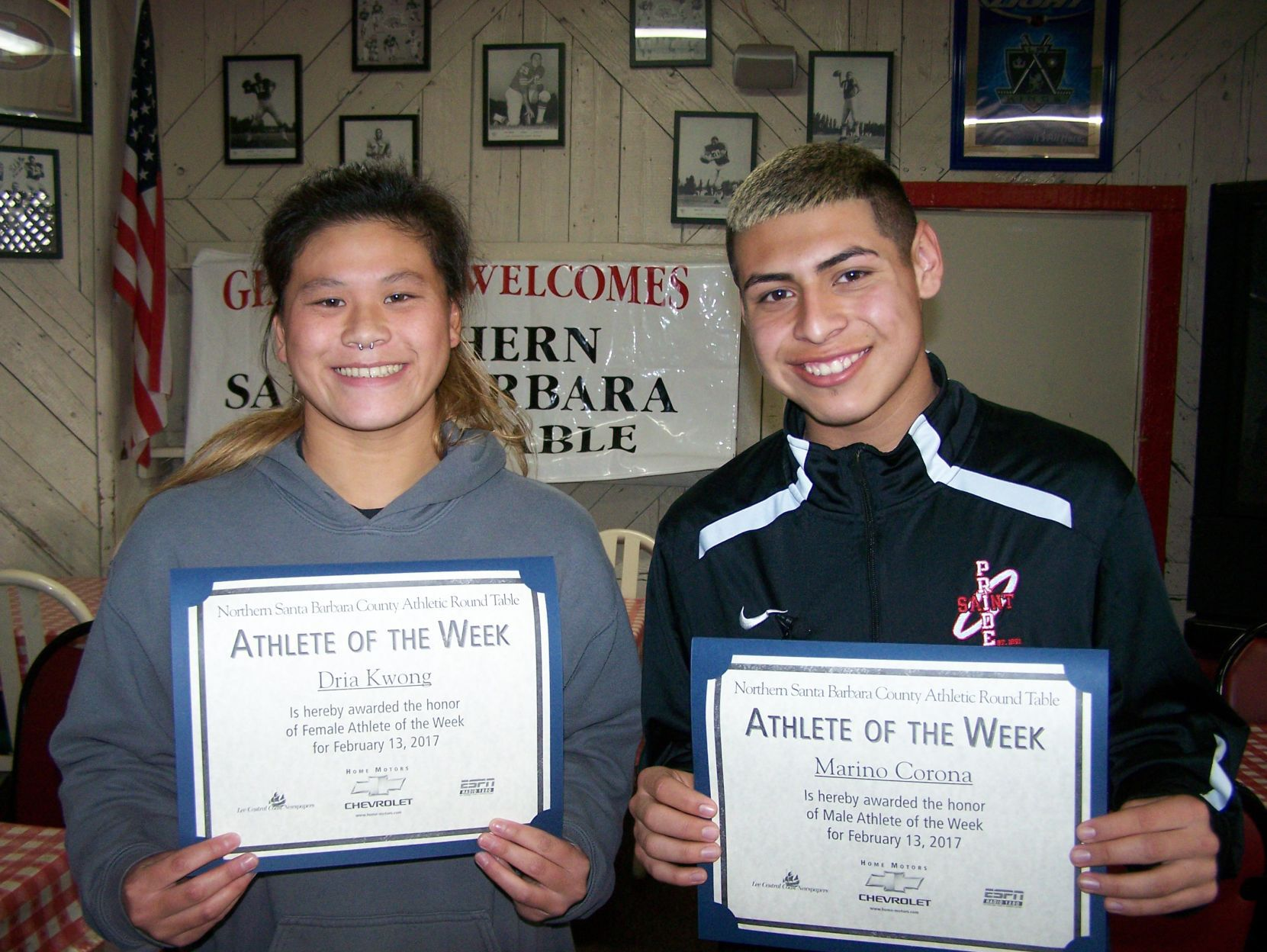 Athletic Round Table: Kwong, Corona Are Athletes Of The Week | High School  | Santamariatimes.com