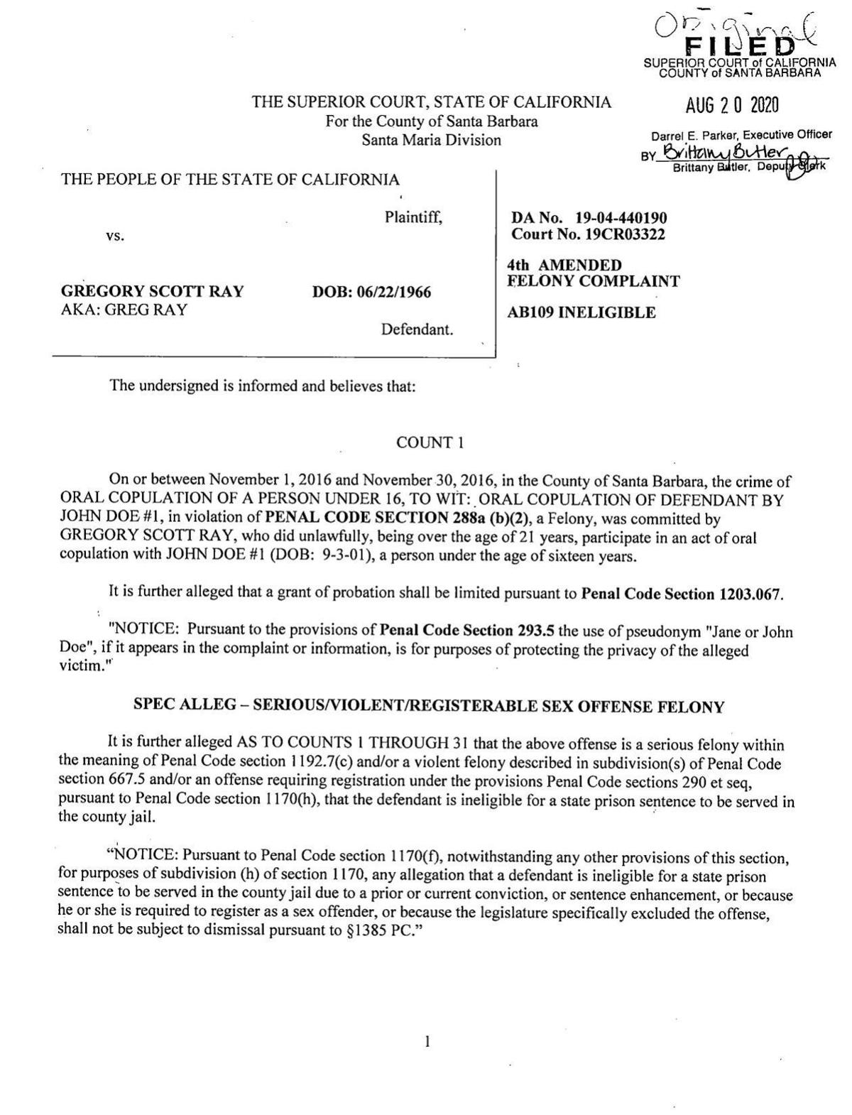 Ray 4th amended complaint