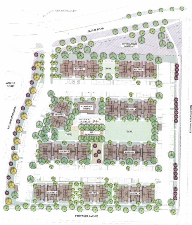 Centennial gardens layout
