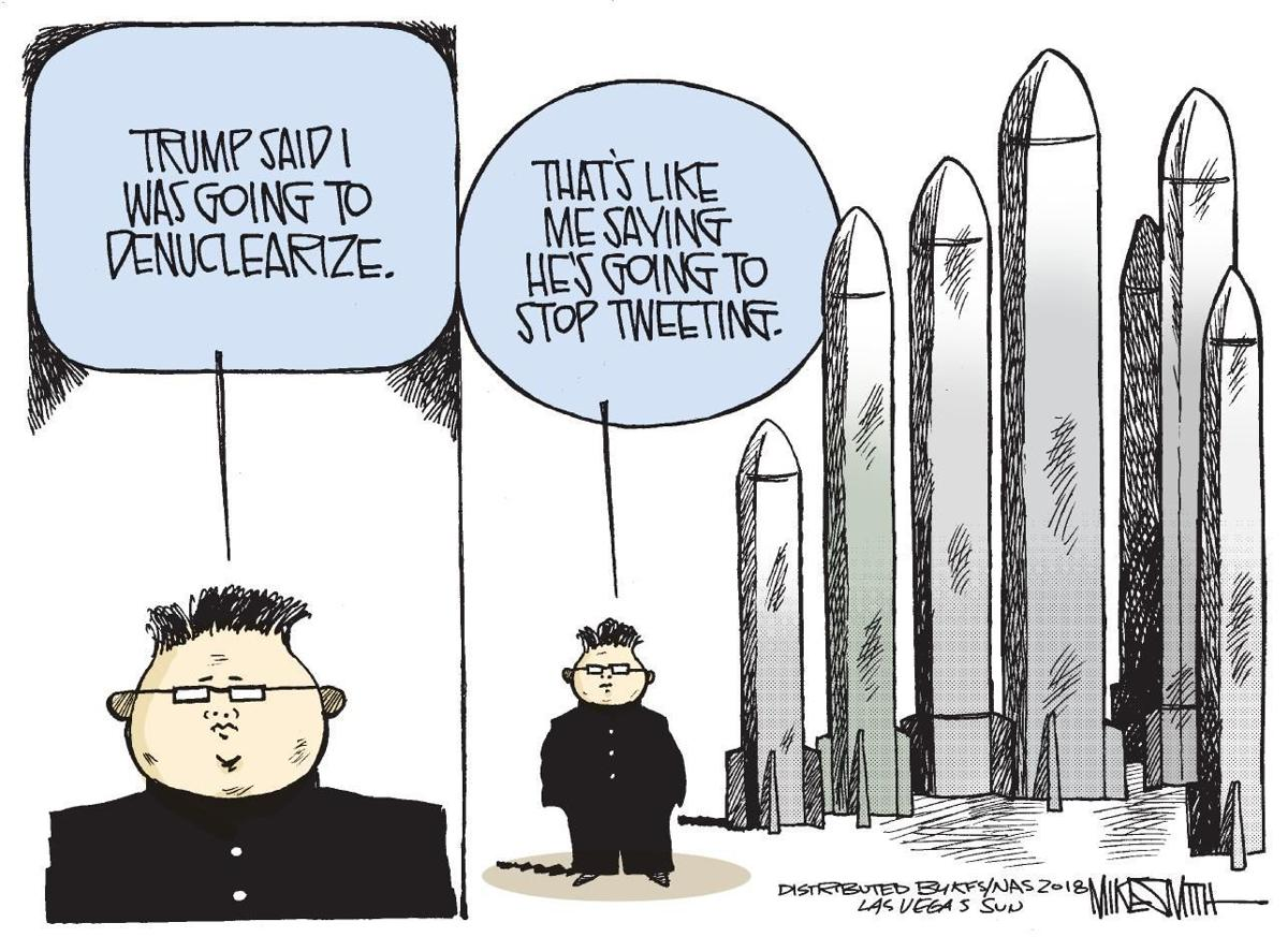 Cartoon: Kim's missiles