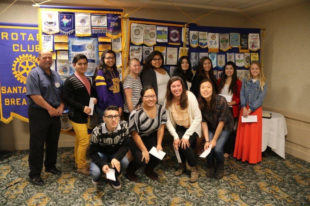 Santa Maria Breakfast Rotary Club selects scholarship recipients