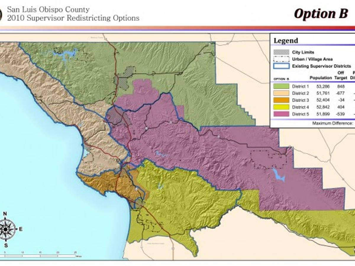 Slo Board Weighs Redistricting Plans Government And Politics Santamariatimes Com