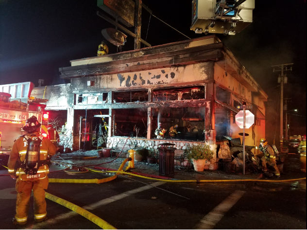 Early Morning Fire Destroys Giuseppes Restaurant In Pismo Beach