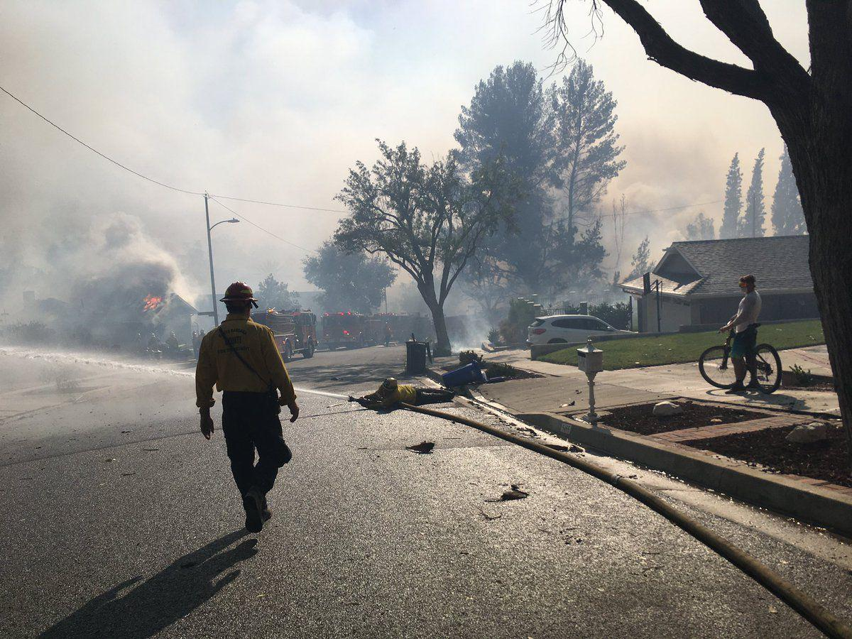 Santa Barbara County crews work Woolsey fire