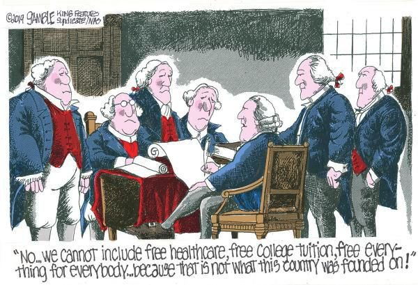 Cartoon: Founding fathers