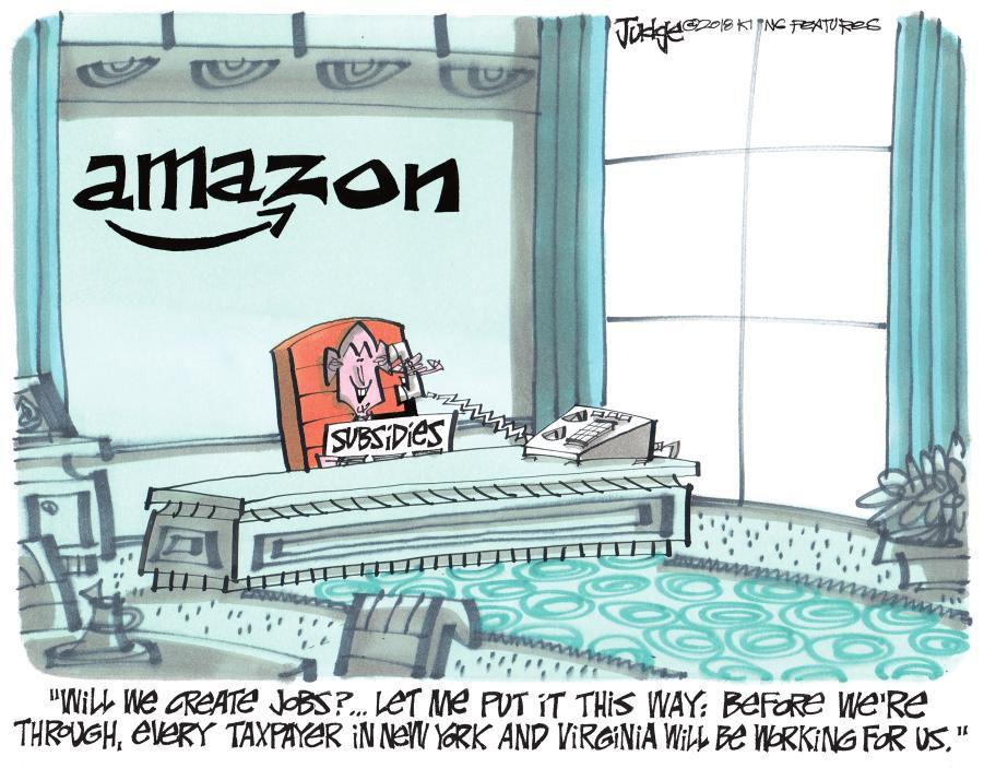 Cartoon: Amazon, creating jobs
