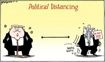 Editorial Cartoon: Political distancing