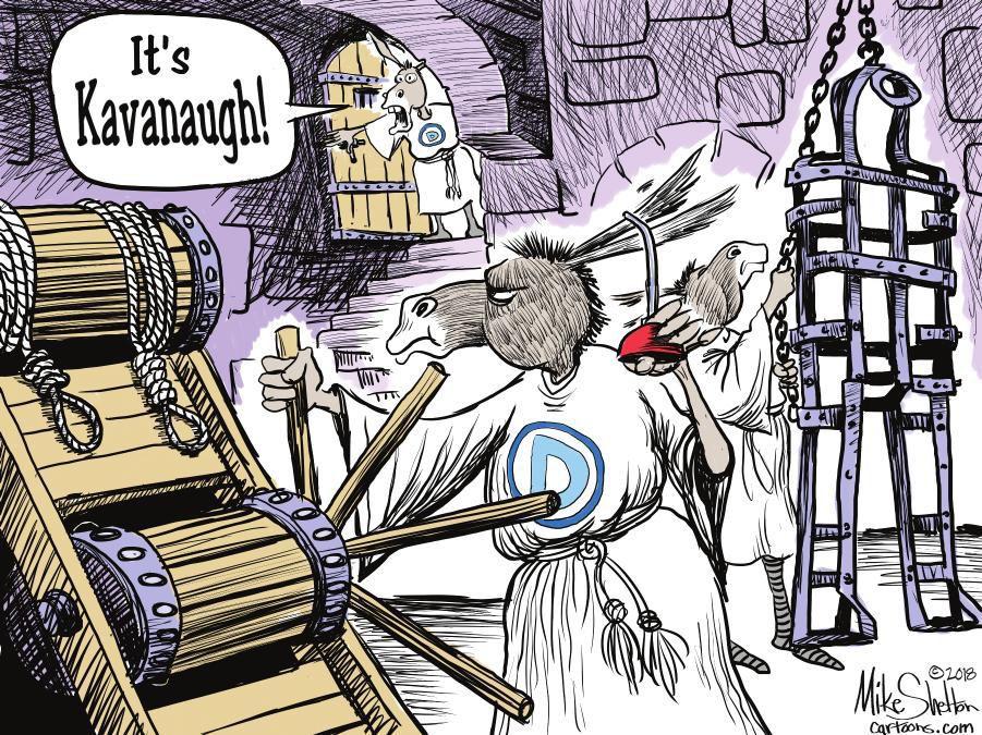 Cartoon: Kavanaugh's chamber