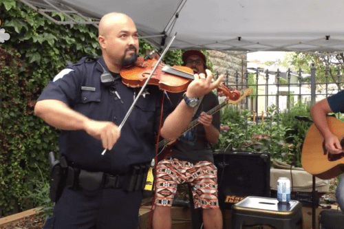 Police Officer Wows Crowd With Violin Performance