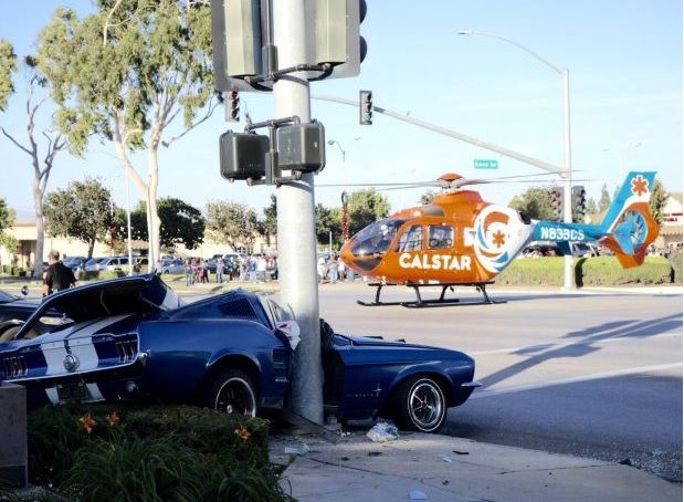 Car wreck in Santa Maria sends driver to the hospital