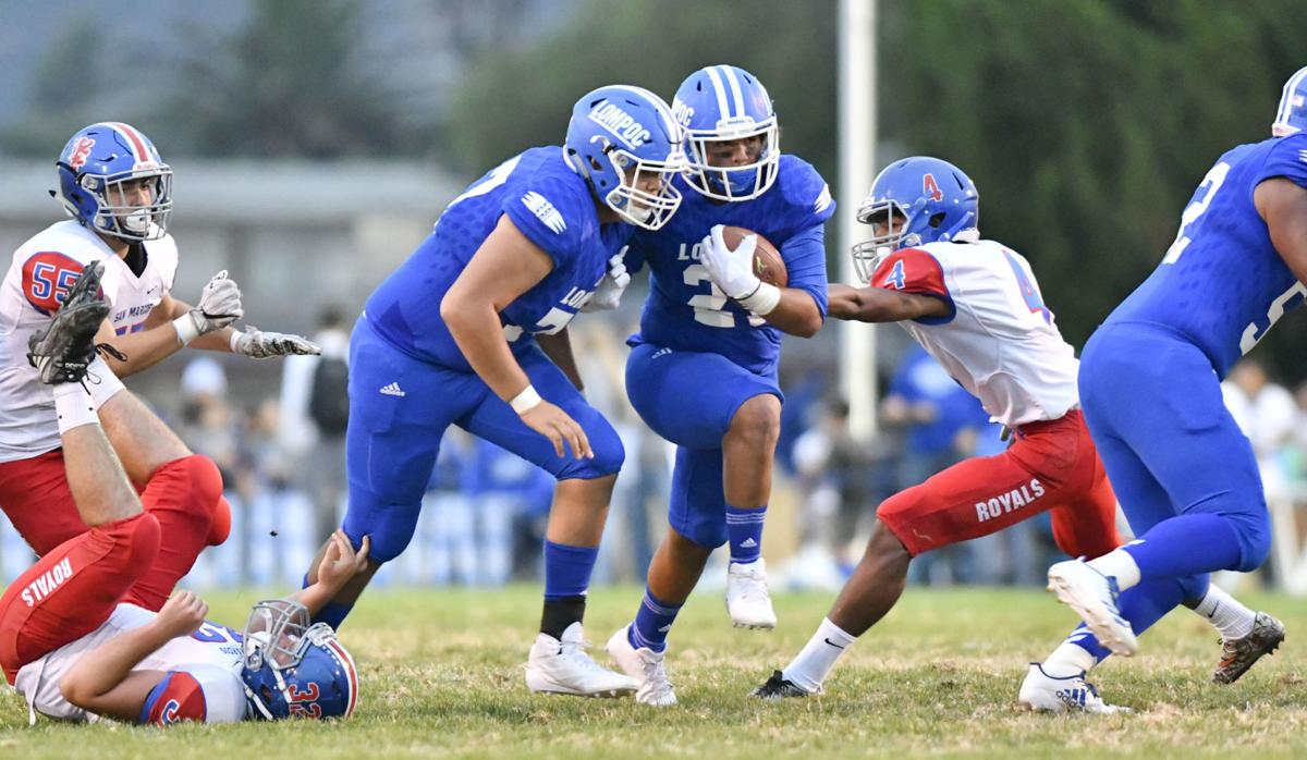 Jacob Nunez, Lompoc's star offensive lineman, pitches in to help team on defense