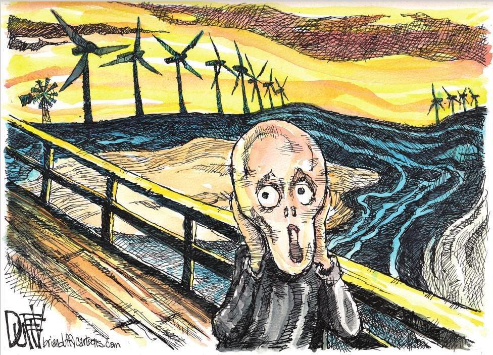 Cartoon: Windmill horror