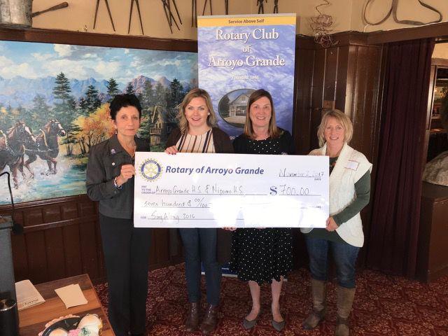 Rotary Club donates to Arroyo Grande, Nipomo high school music programs