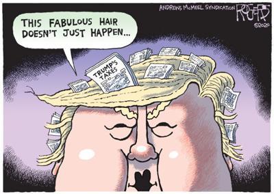 Editorial Cartoon: Tax Combover