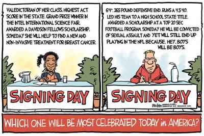 Cartoon: Signing Day