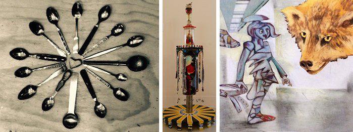 Spoon Tree, Day and Night, and Awakening by Lori Wolf Grillias.