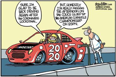 Editorial Cartoon: Cornhole