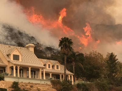 Thomas fire precursor to debris flow