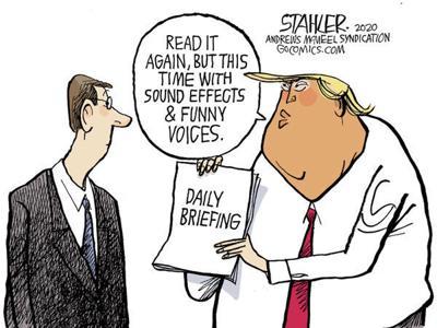 Editorial Cartoon: Briefing