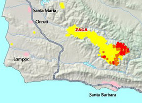 Map Shows New Zaca Fire Burn Area Local News Santamariatimes Com