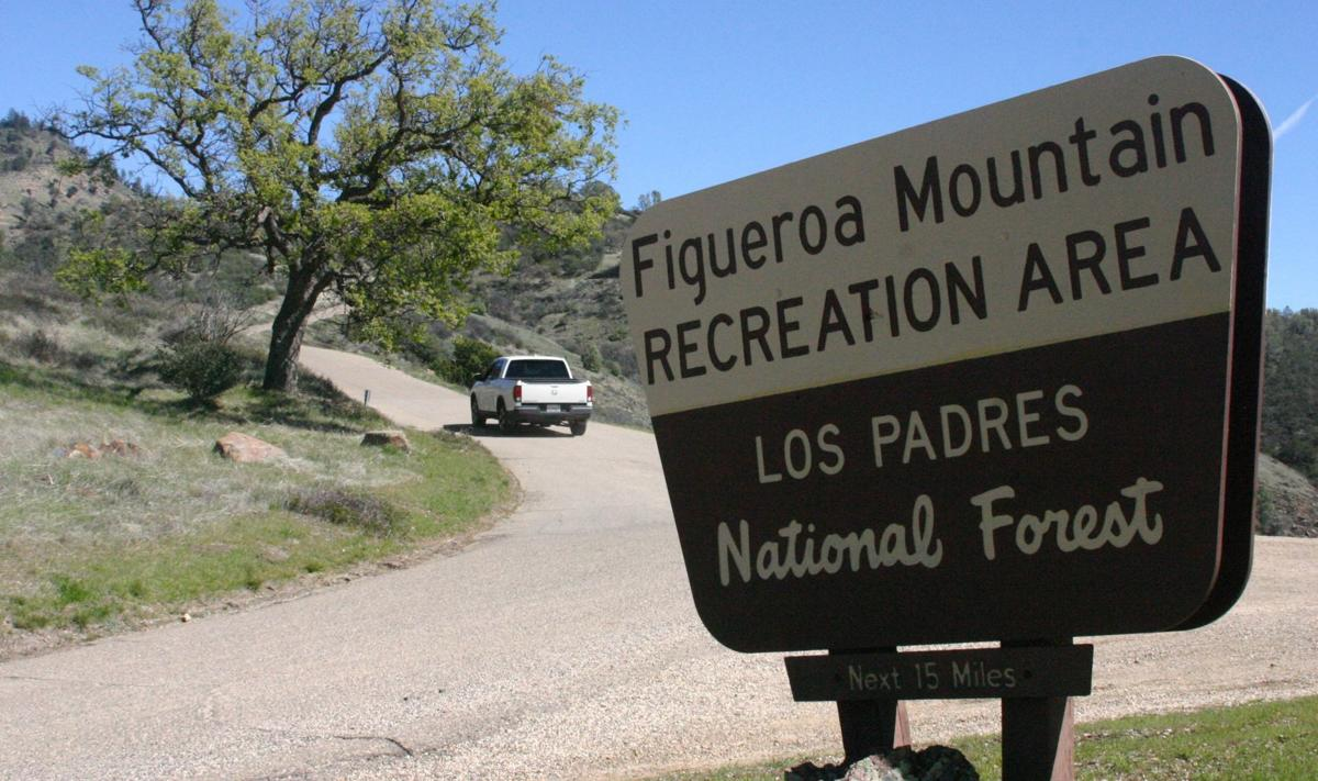 Figueroa Mountain sign, Los Padres National Forest