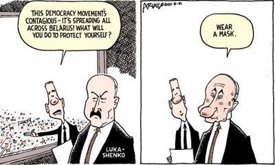 Editorial Cartoon: Wear a mask