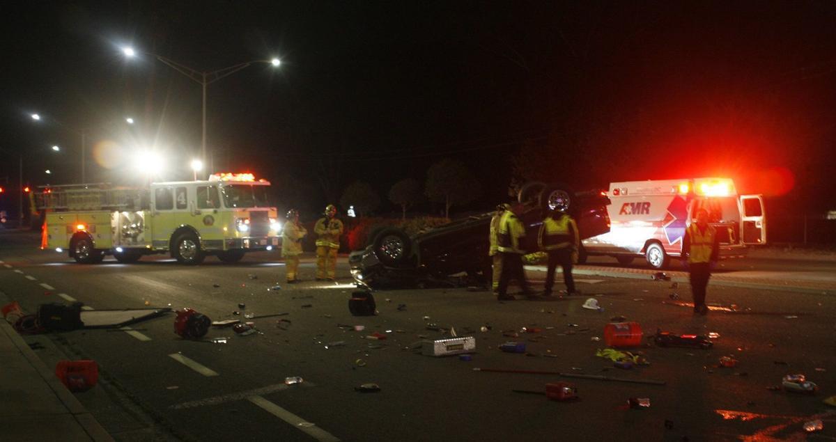 Skyway rollover crash