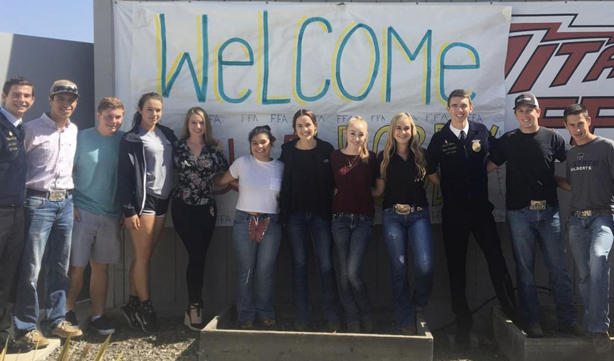 Members of Nipomo FFA pose with the state officers