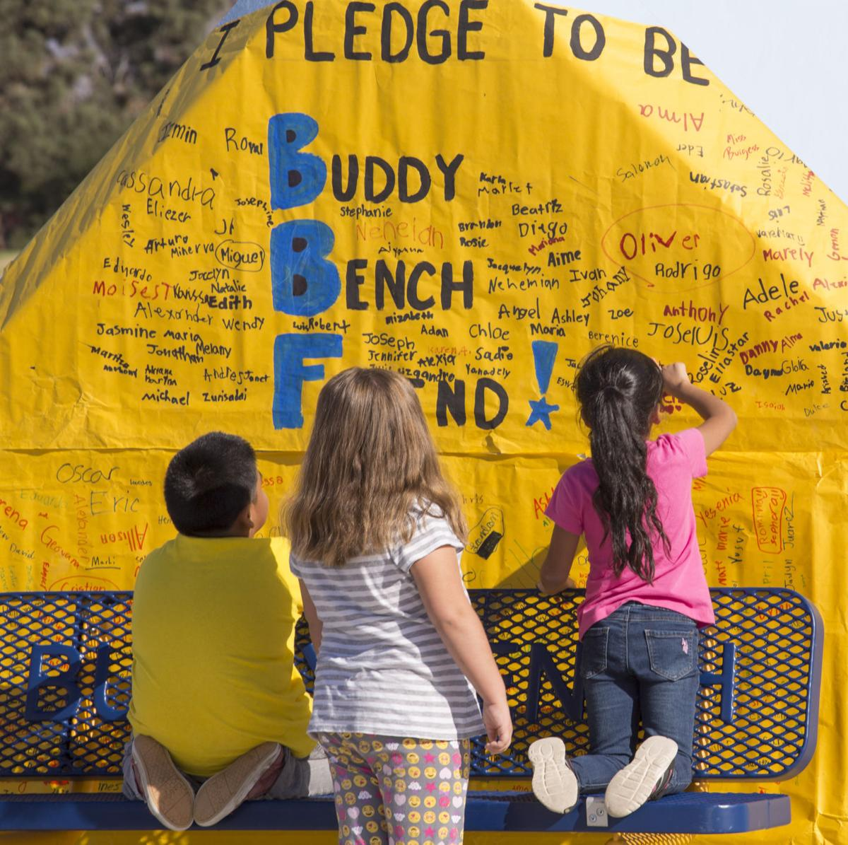 Miller Elementary Dedicates Buddy Bench -- 2