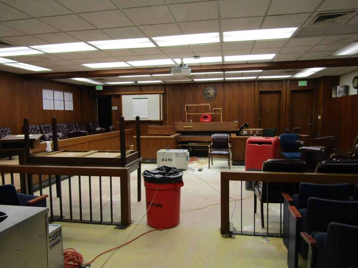 Photos: Flooding at Santa Maria Superior Court possibly closes two departments for months
