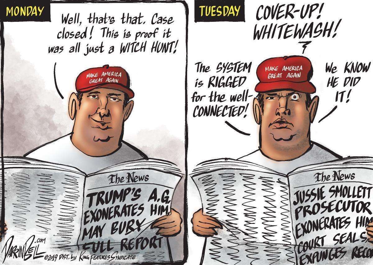 Cartoon: Trump and Smollett