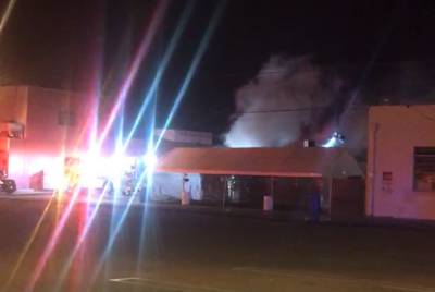 Fire at The Swiss Restaurant in Santa Maria
