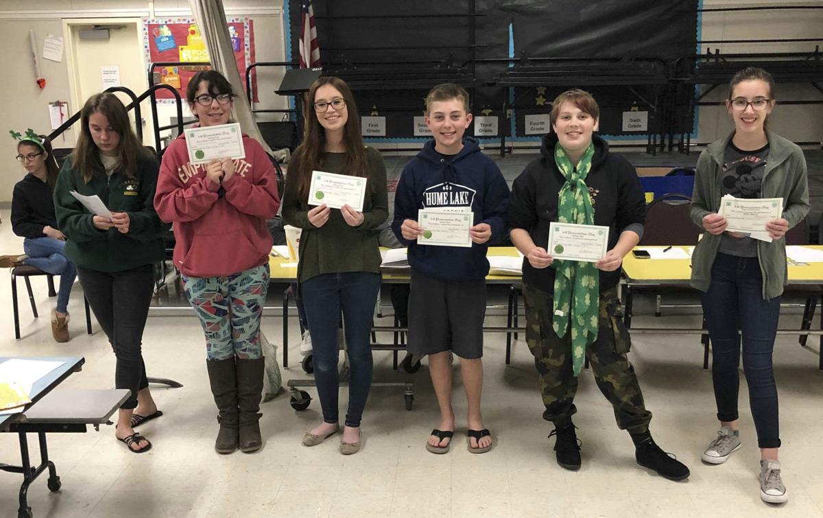 Vineyard 4-H County Presentation Day gold winners