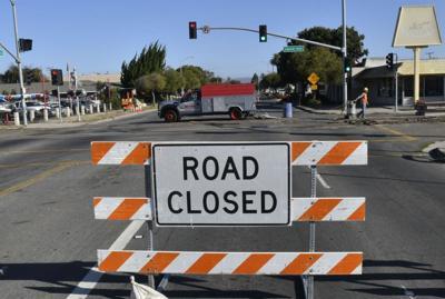 Lompoc H Street Road Closed