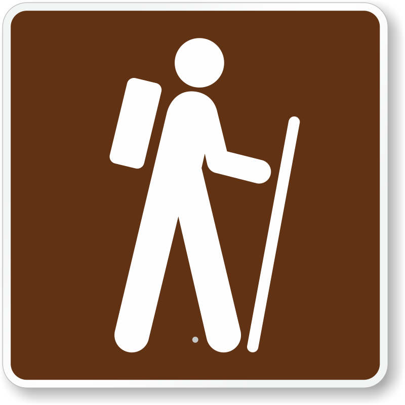 Hiking sign