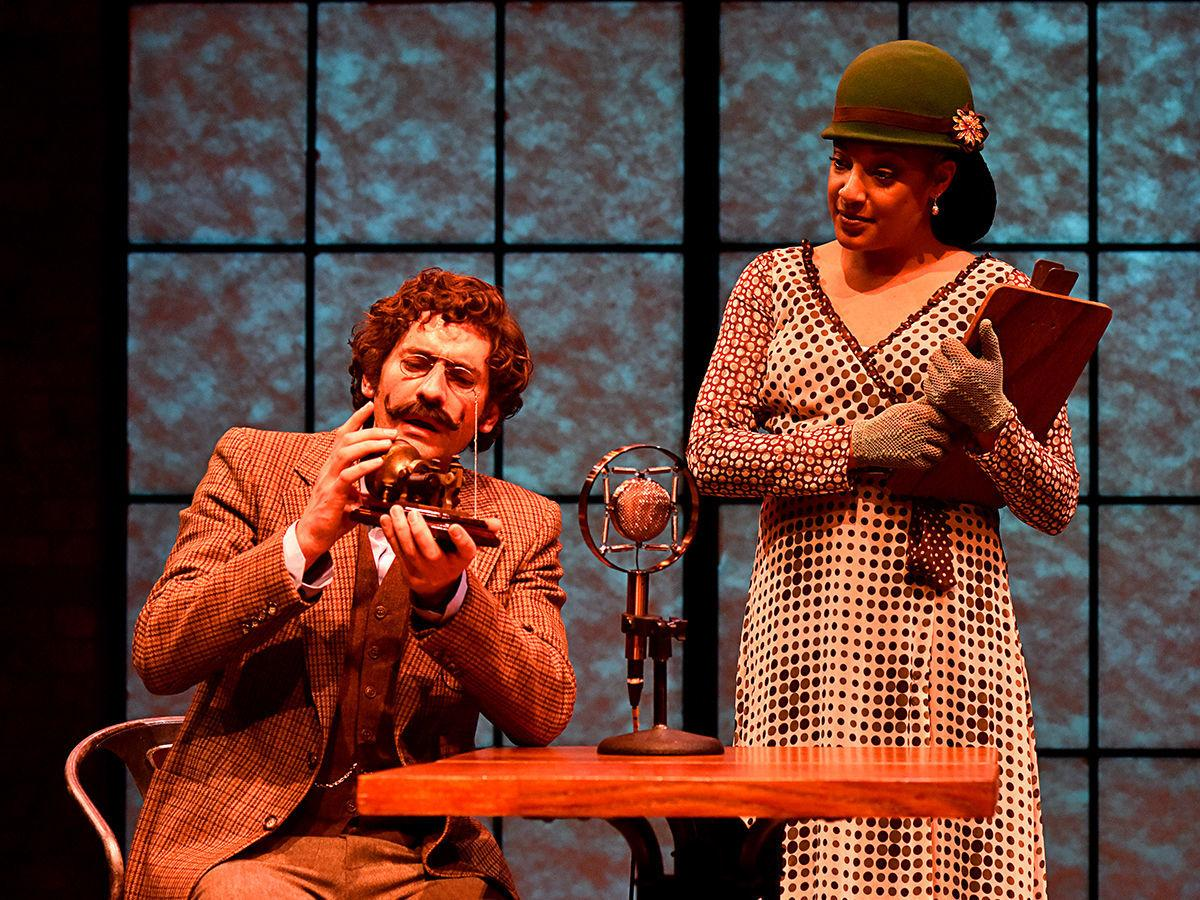 """The (curious case of the) Watson Intelligence"": Jeff Salsbury as Watson and Amani Dorn"