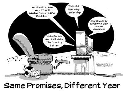 Editorial Cartoon: Promises