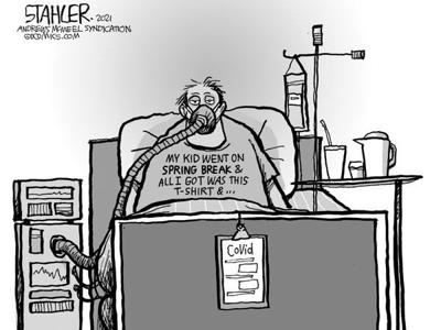 Editorial Cartoon: Spring Break