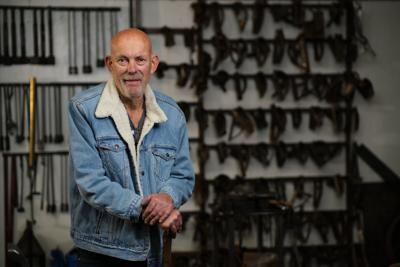 Hans Duus, owner of Hans Duus Blacksmith in Santa Maria