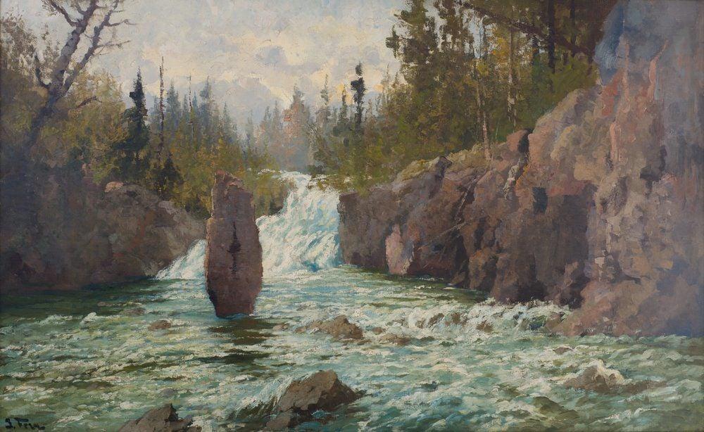 John Fery Austrian, 1859-1934 Cascade on the Firehole, 1912