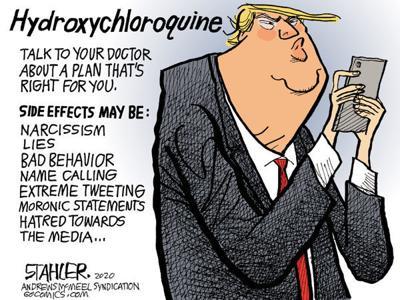 Editorial Cartoon: Hydroxychloroquine