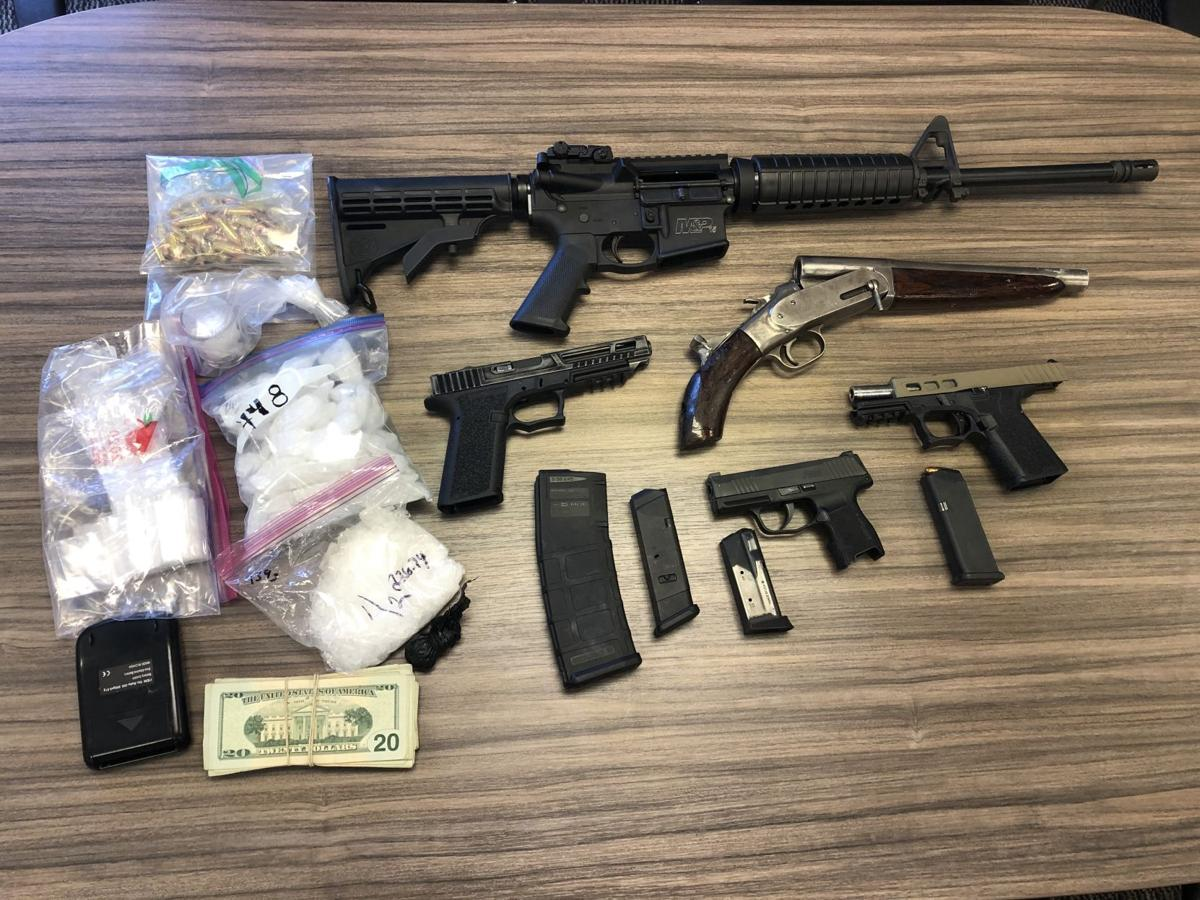 Drugs guns firearms