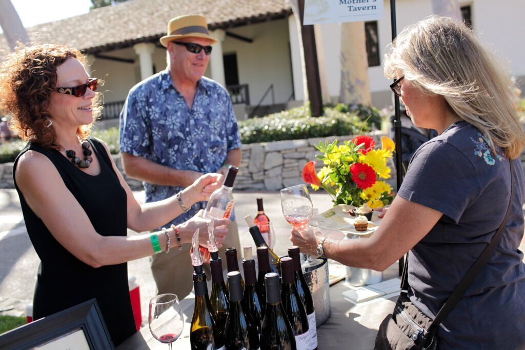 Filippoini Ranch winemaker Peter Cron with his partner Kelly McCleary at last year's Barrels in the Plaza
