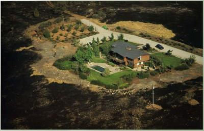 Defensible space example