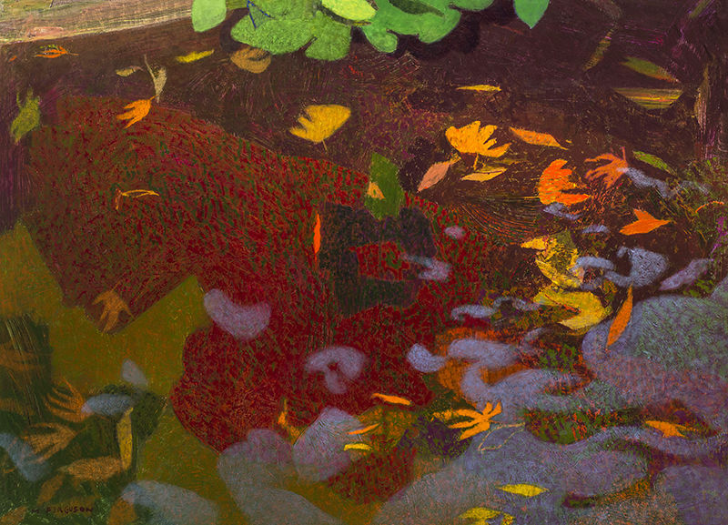 Pond with Leaves