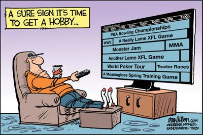Editorial Cartoon: Get a hobby